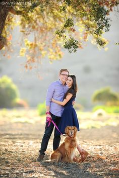 Engagement Session in San Juan Capistrano with Jill, Rory and their dog. Gavin Wade Photographers.