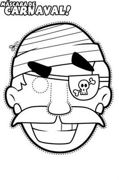Each party guest can color and make their own pirate mask. Pirate Preschool, Pirate Activities, Pirate Games, Pirate Crafts, Activities For Kids, Pirate Day, Pirate Birthday, Pirate Theme, Pirate Coloring Pages