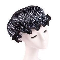 1PCS Cute Printing Elastic Shower Caps for Ladies Girl Hat Hair Bath Spa Salon Shower Caps Women Waterproof Shower Cap