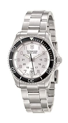 Women's Wrist Watches - Victorinox Unisex 241482 Maverick Analog Display Swiss Quartz Silver Watch -- Click on the image for additional details. (This is an Amazon affiliate link)