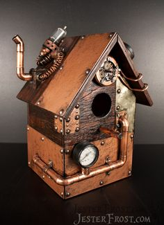 Steampunk birdhouse