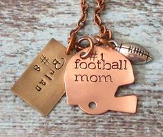 Hey, I found this really awesome Etsy listing at https://www.etsy.com/listing/156374775/hand-stamped-personalized-football-mom