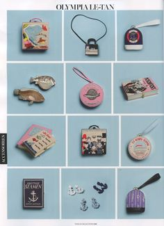 Olympia Le-Tan accessories in Vogue Paris Collections.