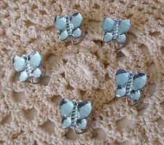 Butterfly Hair Swirl Spins in Sparkling Light Blue by hairswirls1, $8.99