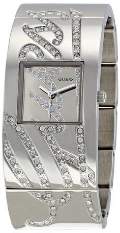 GUESS Women's W12063L1 Jewelry Silver Dial Watch, (bracelet watch, guess, graduation gift, womens guess watch, guess womens watches, guess casual watch, guess women watch)