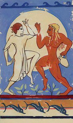 XVIII. The Moon - Etruscan Tarot by Silvana Alasia
