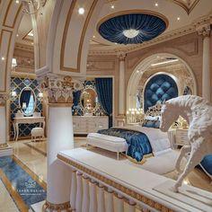 Mansion Interior, Luxury Interior, Home Interior Design, Dream Home Design, My Dream Home, House Design, Design Hotel, Royal Bedroom, Bedroom Décor