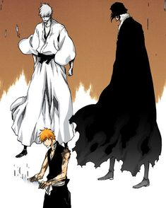 Ichigo, Old Man Zangetsu and Hollow Ichigo - Bleach Wikia