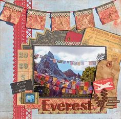 Expedition Everest (paper) scrapbook page - Walt Disney World