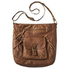Mossimo Supply Co. Hobo Handbag - Brown // my fave purse. use it every. single. day. $30