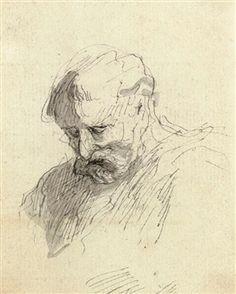 TETE D'HOMME By Honoré Daumier