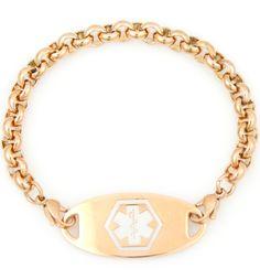 Rose Gold Tone Rolo Medical Alert Bracelet (I really like this one)