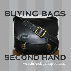 Guide to buying + restoring second hand bags, as well as tricks for common leather repairs | la vie en rose