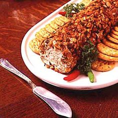 """Oyster Cheese Appetizer Log ~ Reviewer says: """"We love smoked oysters, so when I found this recipe, I jumped on board. Not only was it easy to prep, I had everything on hand but the cream cheese. I did toast the pecans, which I believe just added to the smoky flavor of the oysters. It was a big thumbs up here, not only for family, but friends"""""""