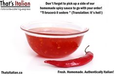 Get your #hot #sauce the next time you call in for #pizza from #ThatsItalian. It's a #calabrese #tabasco with kick!