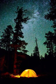 camping- just the moon and stars are going to know where I am...