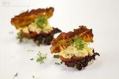 Das perfekte Rührei - Rühreier Sous-Vide mit Toast, Bacon, Tomate und Kresse