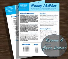 Nanny Cover Letter Template Mrs Doubtfire By Nannylikeapro Your
