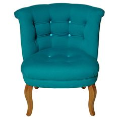 Buy the Teal Contrast Button Cotton Tub Chair at Oliver Bonas. We deliver Furniture throughout the UK within 5-12 working days from £35.