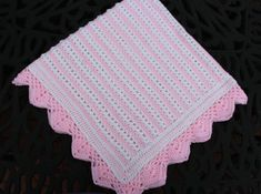Make this delicate Pearl Stitch blanket for a newborn in a soft baby yarn or change it up and choose a worsted yarn for an adult throw! The pattern is an easy repeat for the body with a an elegant lacy border to finish it off. In the baby yarn, it measures approximately 36