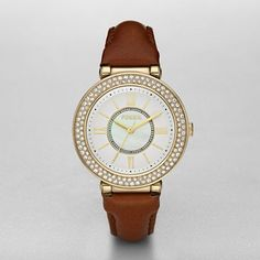 Fossil Three Hand White Dial Watch, $105