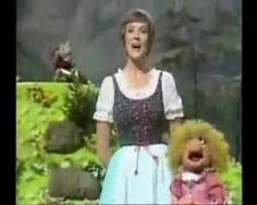 "Julie Andrews guest stars on The Muppet Show and sings ""The Lonely Goatherd"" Julie Andrews, Sound Of Music, My Music, Music Wall, Sesame Street Muppets, Fraggle Rock, Music Education, Health Education, Physical Education"