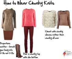 How to Wear a Chunky Knit Sweater. Cable knits and knits with lots of texture are a tricky trend to wear.