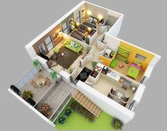 25 Three Bed room Home/Condo Flooring Plans - http://www.fullhomedesigning.com/25-three-bed-room-homecondo-flooring-plans