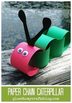 Paper Chain Caterpillar - Kid Craft Idea