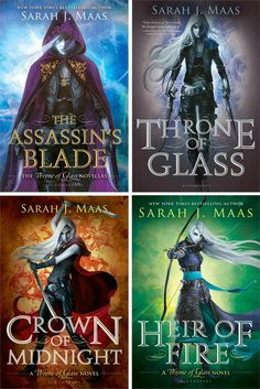 Signed Copies of The Throne of Glass Series by Sarah J. Maas