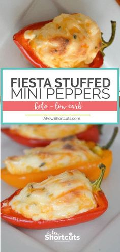 A popular recipe for a tasty reason! This simple Fiesta Stuffed Mini Peppers Recipe is an amazing appetizer. Keto friendly and delicious!