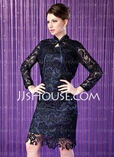 Mother of the Bride Dresses - $149.99 - Sheath Scoop Neck Knee-Length Charmeuse Mother of the Bride Dress With Lace (008005757) http://jjshouse.com/Sheath-Scoop-Neck-Knee-Length-Charmeuse-Mother-Of-The-Bride-Dress-With-Lace-008005757-g5757
