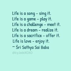 Life is a song - sing it....