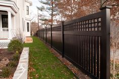 Color Vinyl Fence and Woodgrain Vinyl fence are now available through the amazing new Grand Illusions Series. Description from illusionsfence.com. I searched for this on bing.com/images