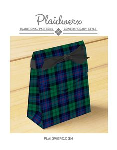 Clan Armstrong Tartan Favor Boxes - Great for weddings, birthdays, corporate events and more. Choose from five box types including tent, cube, and gable. #armstrong #tartan #plaid #scottish #weddingfavors
