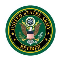 Army Retired Sign
