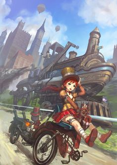 cloggo:        STEAMPUNK        Wheeeee Hang on to your Top Hat young lady