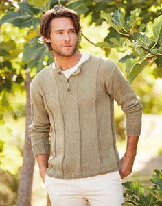 Katia linen - men's pullover, Book: Woman 73 Spring / Summer | 4