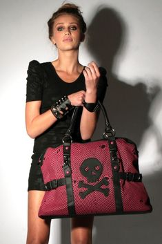 Iron Fist Skull Overnight Bag