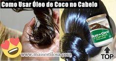 Como usar óleo de coco nos cabelos passo a passo para hidratar, nutrir e estimular o crescimento. Use em cabelos, cacheados, com luzes e naturais.
