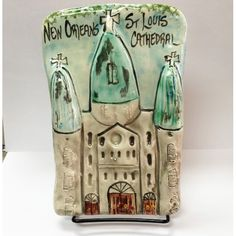 #Louisiana #neworleans #plaque St. Louis Cathedral Fine Clay Plaque