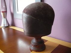 Antique Milliners Wooden Hat Block.Rough Lux Hat Stand? on eBay!