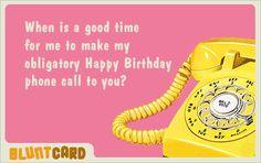 birthday call