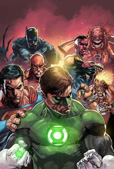 Green Lantern and the Justice League of America -Cool Comic Illustrations by Neeraj Menon (JLA/DC)