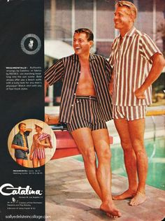 Cabana Outfits for men - vintage ad for Catalina of California swimwear.
