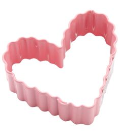 "Wilton Metal Cookie Cutter 3""-Pink/Small Crinkle"
