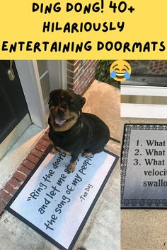 The way you welcome your guests into your home can really leave a lasting impression. But these hilarious residents and home owners really thought above and beyond the doorway when they purchased and placed some of the most entertaining doormats on their doorstep. Top Tattoos, Thumb Tattoos, Crohns Tattoo, Cute Dogs, Cute Babies, Bum Tattoo, Everyday Make Up, Asian Wedding Dress, Aloe Vera Face Mask