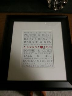 Wedding gift I made for a friend.