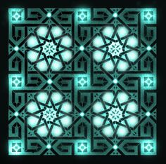 Arabesque pattern with symmetry