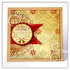 Sylvia Blum: {Sylvias Stamping Place} – Season's Greetings - 12/21/12.  (Whimsy Stamps: Winter Letter Seals.  Spellbinders Dies: Standard Circles Lg, Classic Scalloped Circles Sm,  Picot Edge Circles).
